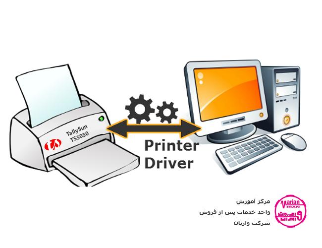 راهنمای نصب درایور پرینتر چاپ چک و دفترچه تالیسان TS5050 در محیط ویندوزهای 32 بیتی از طریق پورت USB
